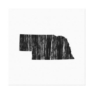 Distressed Nebraska State Outline Canvas Print