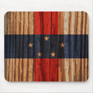 Distressed Netherlands Antilles Flag Mouse Pad