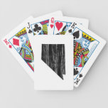 Distressed Nevada State Outline Card Decks