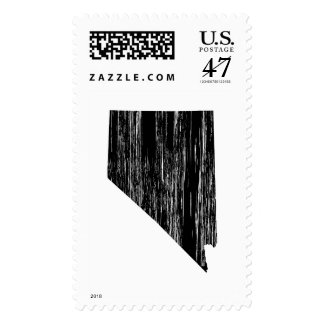 Distressed Nevada State Outline Postage