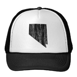 Distressed Nevada State Outline Trucker Hat