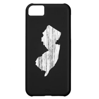 Distressed New Jersey State Outline Case For iPhone 5C