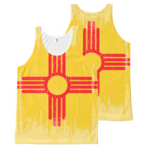 DISTRESSED NEW MEXICO FLAG .png All-Over-Print Tank Top