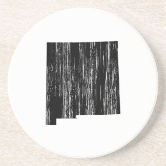 Distressed New Mexico State Outline Drink Coaster