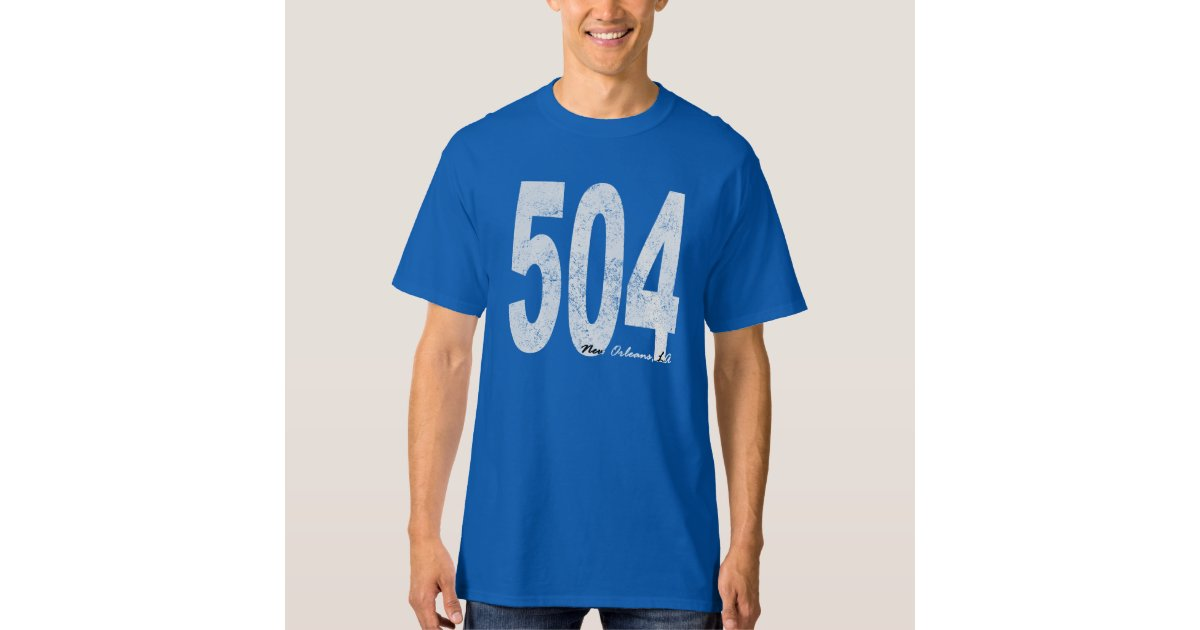 Distressed new orleans 504 t shirt zazzle for T shirt printing new orleans