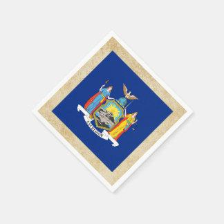 Distressed New York Flag Standard Cocktail Napkin