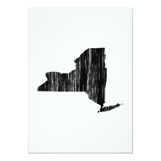 Distressed New York State Outline Card