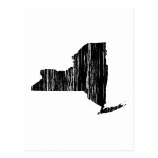 Distressed New York State Outline Postcard
