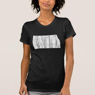 Distressed North Dakota State Outline T-Shirt
