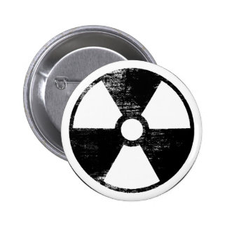 Distressed Nuclear Power Round Button
