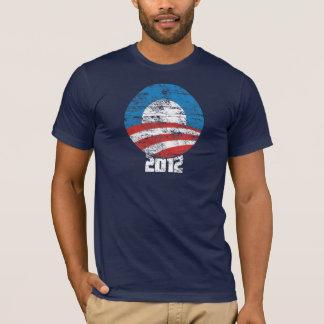 Distressed Obama 2012 O Logo T-shirt