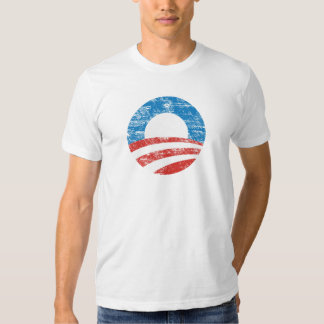 Distressed Obama O Logo T-shirt