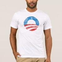 Distressed Obama O Logo T-shirt
