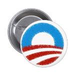 Distressed Obama Symbol Button