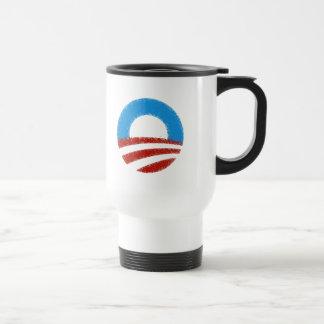 Distressed Obama Symbol 15 Oz Stainless Steel Travel Mug