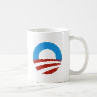 Distressed Obama Symbol Classic White Coffee Mug