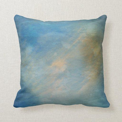 Ocean Blue Decorative Pillows : Distressed Ocean Blue Throw Pillows Zazzle
