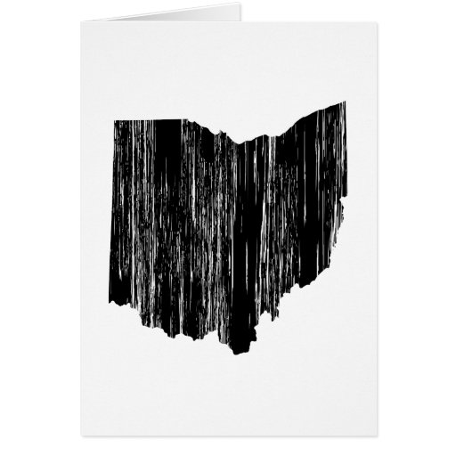 Distressed Ohio State Outline Card