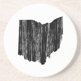 Distressed Ohio State Outline Drink Coaster