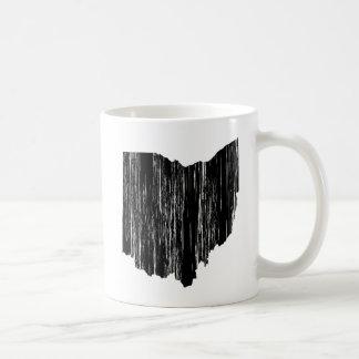 Distressed Ohio State Outline Coffee Mug