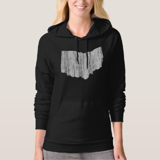 Distressed Ohio State Outline Hoodie