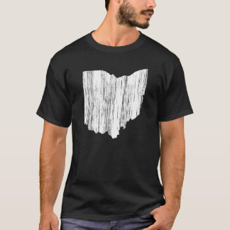 Distressed Ohio State Outline T-Shirt