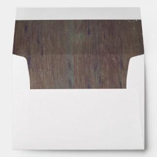 Distressed Old Rustic Barn Wood Envelope