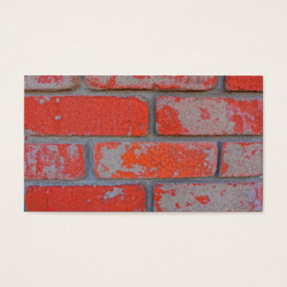 Distressed Orange Brick Business Cards