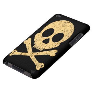 Distressed Orange Skull iPod Touch Case