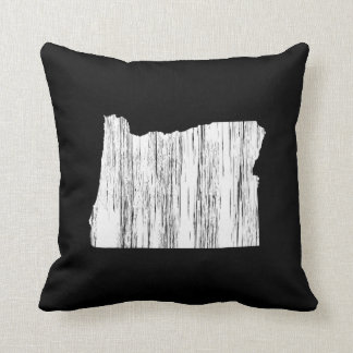 Distressed Oregon State Outline Pillow