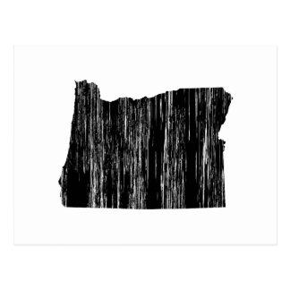Distressed Oregon State Outline Postcard