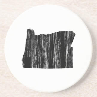 Distressed Oregon State Outline Sandstone Coaster