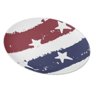 Distressed Paint American Red, White & Blue Plate