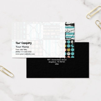 Distressed pattern business card