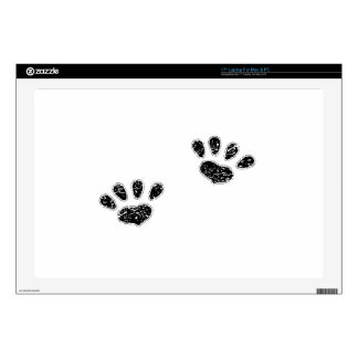 Distressed Pawprints Silhouette Decals For Laptops