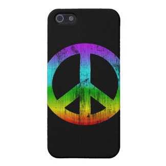 Distressed peace-rainbow iPhone 5 cover