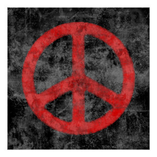 Distressed Peace Sign Poster