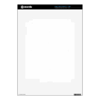 Distressed Peace Sign White Decals For iPad 2