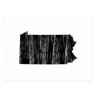 Distressed Pennsylvania State Outline Postcard