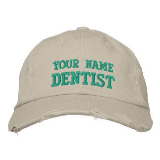 Distressed personalized Dentist Cap Baseball Cap