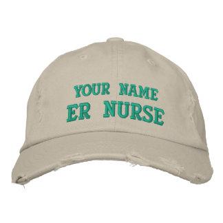 Distressed personalized ER Nurse Cap