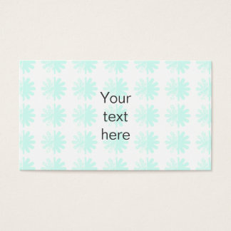 Distressed Petal Snowflake  Modern Pattern Business Card