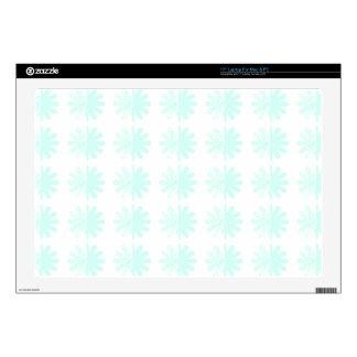 Distressed Petal Snowflake  Modern Pattern Laptop Skins