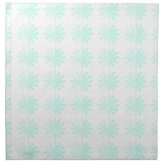 Distressed Petal Snowflake  Modern Pattern Napkin