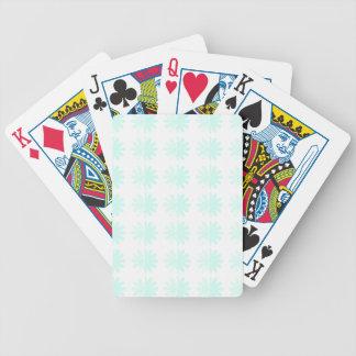 Distressed Petal Snowflake  Modern Pattern Card Deck