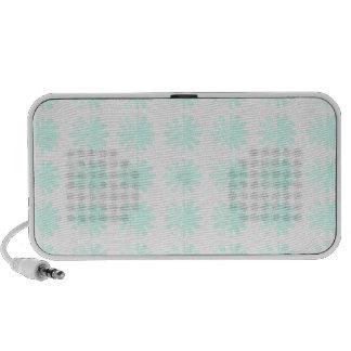 Distressed Petal Snowflake  Modern Pattern Portable Speaker