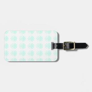 Distressed Petal Snowflake  Modern Pattern Travel Bag Tag