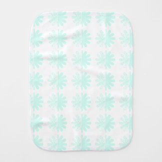 Distressed Petal Snowflake Pattern Burp Cloths