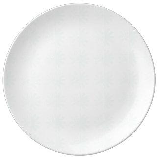 Distressed Petal Snowflake Pattern Dinner Plate