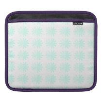 Distressed Petal Snowflake Pattern iPad Sleeve